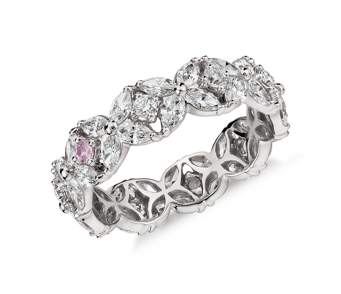 Monique Lhuillier Petal Garland Diamond Eternity Ring in Platinum (2 ct. tw.)