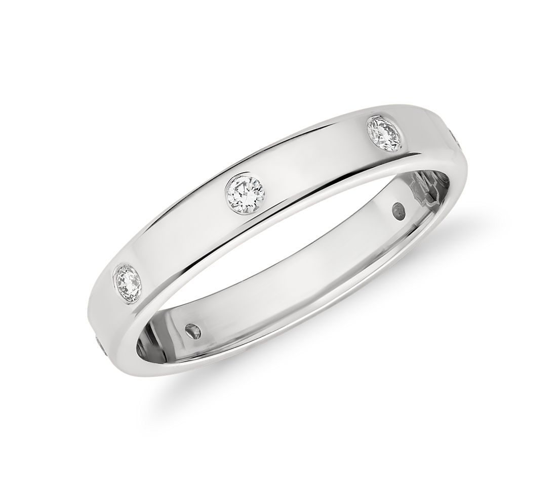 Monique Lhuillier Polished Diamond Eternity Band in Platinum (1/3 ct. tw.)