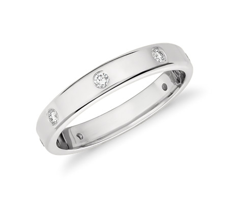 Monique Lhuillier Polished Diamond Eternity Band in Platinum