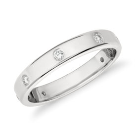 NEW Monique Lhuillier Polished Diamond Eternity Band in Platinum (1/3 ct. tw.)