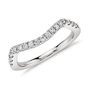 Monique Lhuillier Pavé Diamond Ring in Platinum  (1/5 ct. tw.)