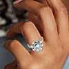 Monique Lhuillier Marquise Floral Halo Diamond Engagement Ring in Platinum (3/4 ct. tw.)