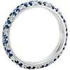 Sapphire and Diamond Pavé Floral Band in 18k White Gold