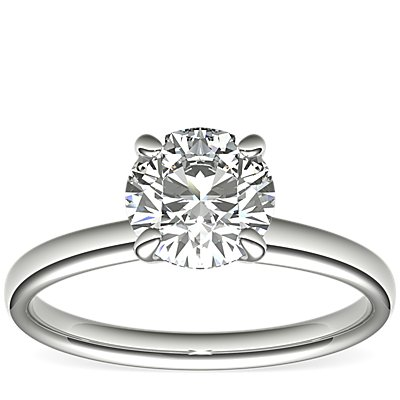 Monique Lhuillier Classic Solitaire Engagement Ring in Platinum