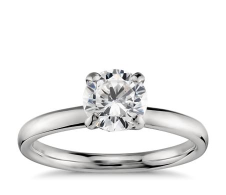 Monique Lhuillier Amour Solitaire Engagement Ring in Platinum