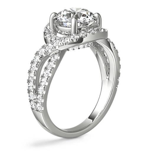 Monique Lhuillier 盘旋扭纹无限式钻石订婚戒指