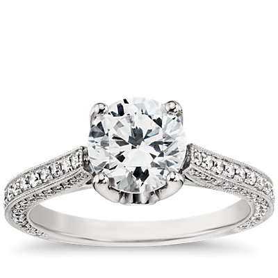 Monique Lhuillier Trio Cathedral Diamond Engagement Ring in Platinum (2/5 ct. tw.)