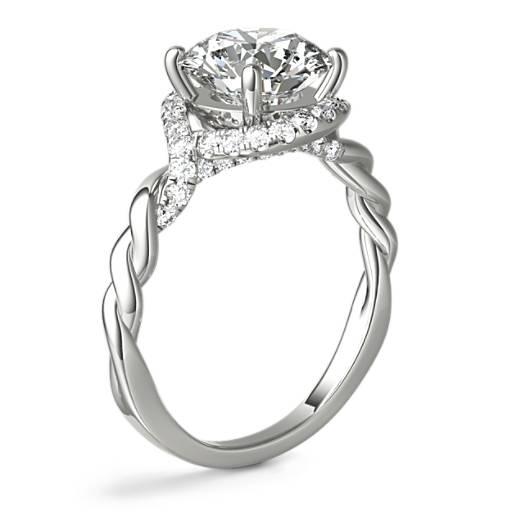 Monique Lhuillier Twist Infinity Diamond Engagement Ring