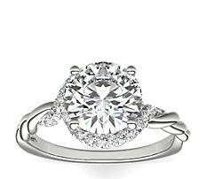 Monique Lhuillier Twist Infinity Diamond Engagement Ring in Platinum (1/4 ct. tw.)