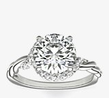 Bague de fiançailles infini torsadé en diamant Monique Lhuillier