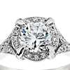 Monique Lhuillier Twisted  Halo Diamond Engagement Ring in Platinum