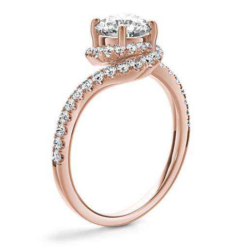 Monique Lhuillier Opulence Twisting Halo Diamond Engagement Ring