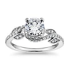 Monique Lhuillier Twisting Vine Diamond Engagement Ring in Platinum (1/4 ct. tw.)