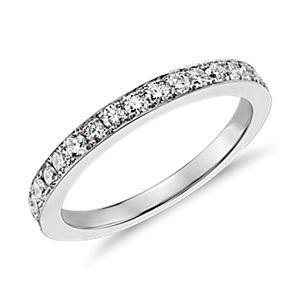 鉑金 Monique Lhuillier 鑽石戒指( 2/3 克拉總重量)