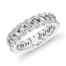 Monique Lhuillier Woven Baguette Diamond Fashion Ring in Platinum (1 1/2 ct. tw.)