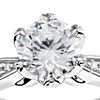 Monique Lhuillier Petal Pavé Diamond Engagement Ring in Platinum