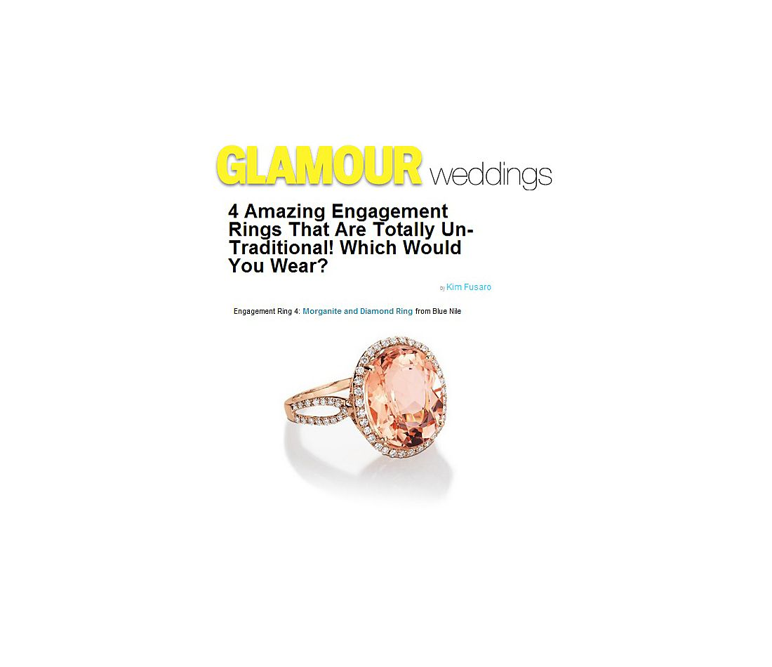 Glamour.com - Amazing, Non-Traditional Engagement Rings
