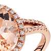 Morganite and Diamond Ring in 14k Rose Gold (11x9mm)