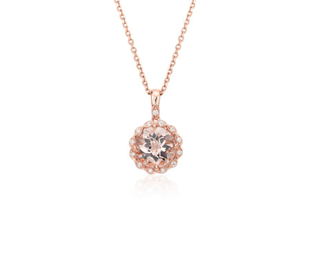gold etsy cuxn drop il necklace morganite minimal tear market rose modern