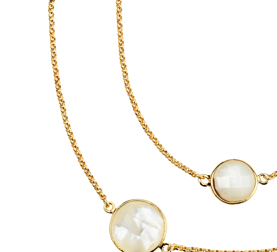Collier Nacre en or vermeil