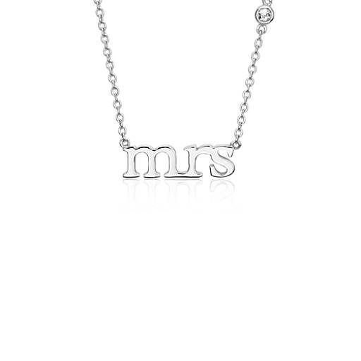 Blue Nile Mrs. Necklace and Diamond Detail in 14k Rose Gold VdRzjDmrj