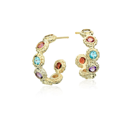 roxy cluster multi earrings gemstone gemstones