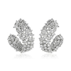 Multi-Row Diamond Wrap Hoop Earrings in 14k White Gold (2 7/8 ct. tw.)