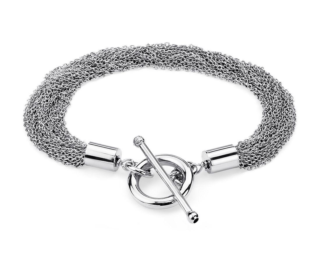 Mutli Strand Bracelet in Sterling Silver