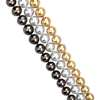 18k 白金多鏈串珍珠項鍊