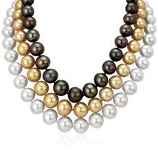 NEW Multi-Strand Pearl Necklace in 18k White Gold