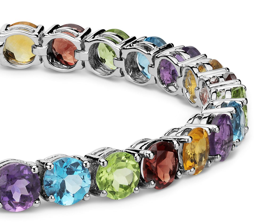 silver sterling bracelet youtube gemstone plated gold yellow watch multi