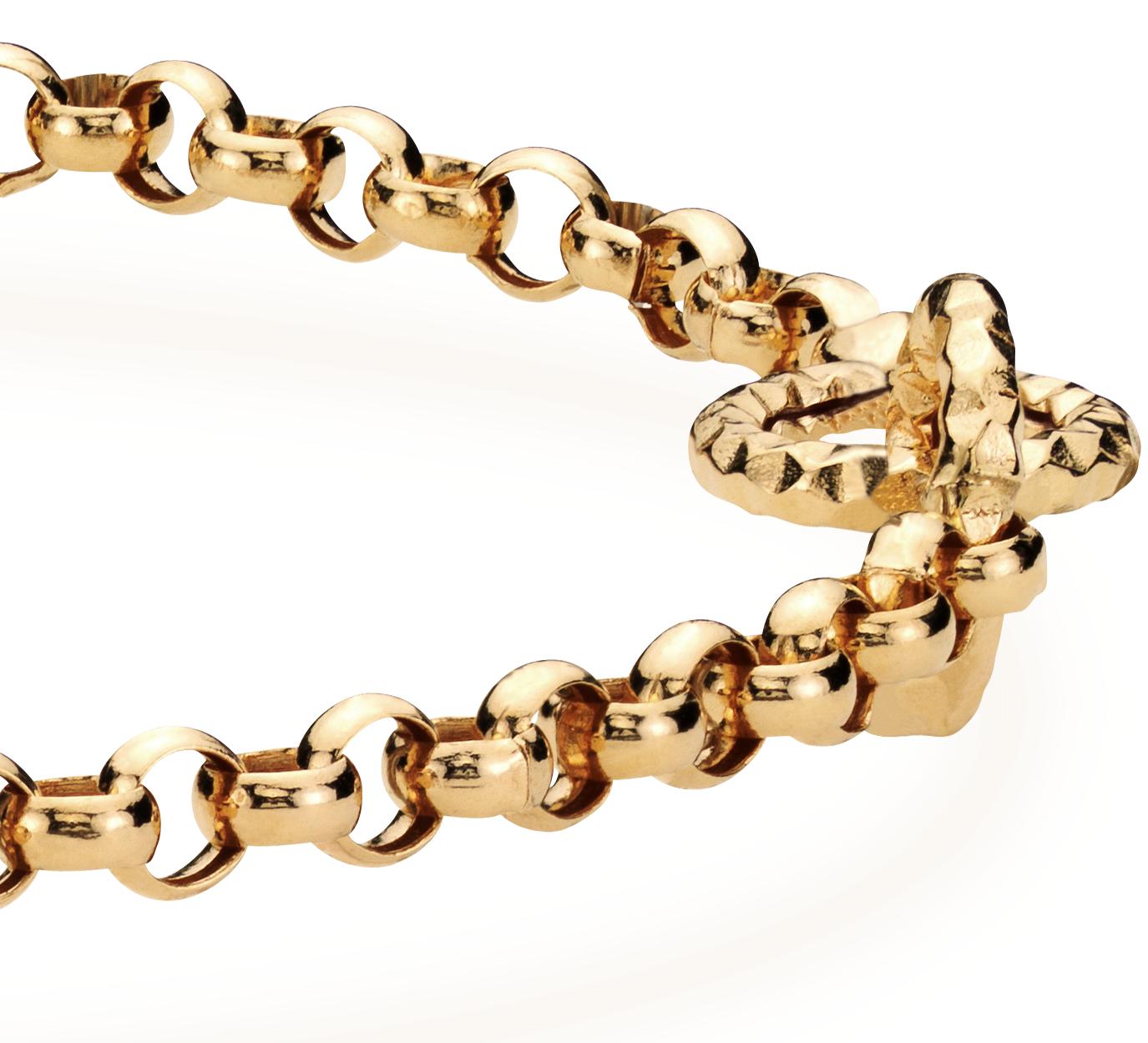 Bracelet lien muse en or jaune 14carats