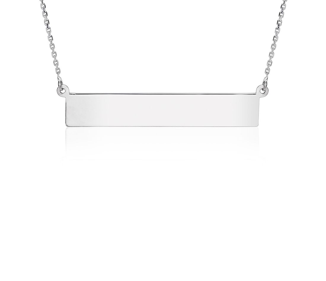 6ffb1f6c5cf79 Engravable Bar Necklace in Sterling Silver