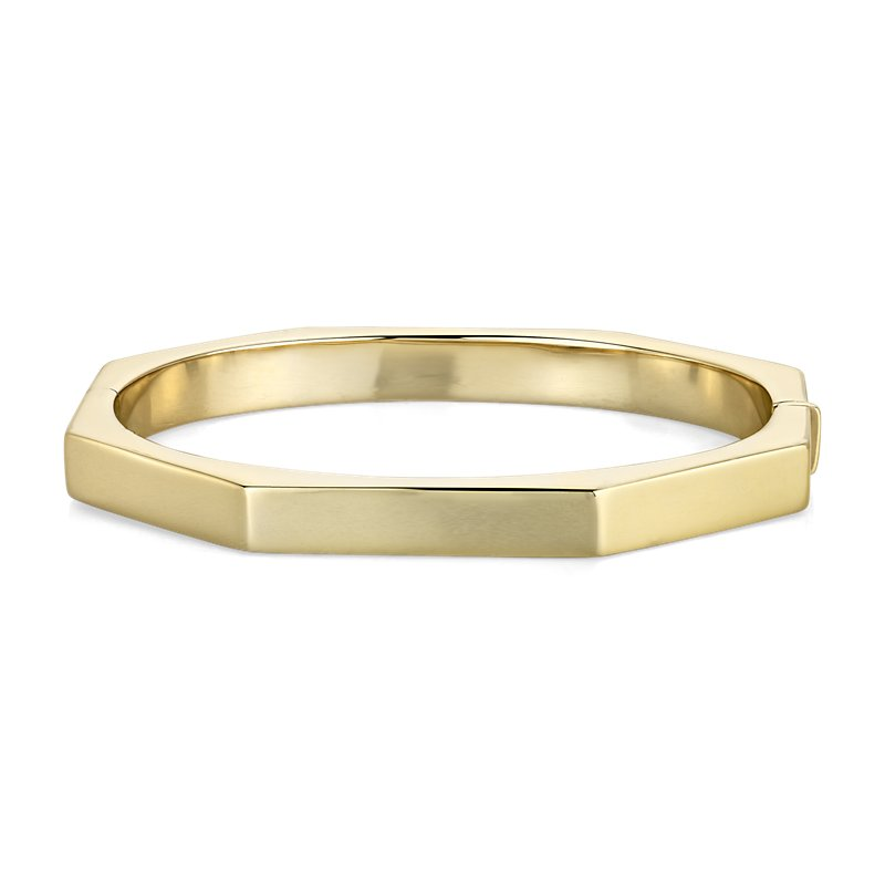Octagon Bangle in 14k Italian Yellow Gold