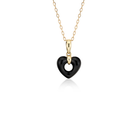 Blue Nile Open Heart Pendant in 14k Yellow Gold IaMwxT7e