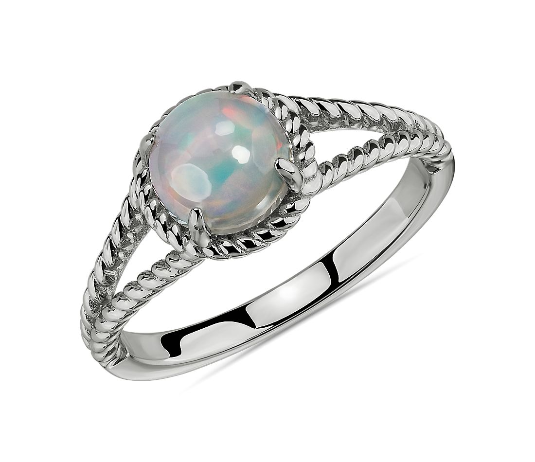Opal Rope Ring by Blue Nile