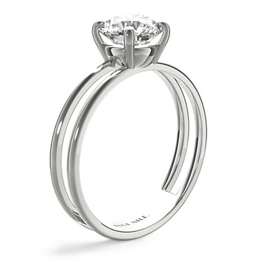 Open Bar Solitaire Engagement Ring