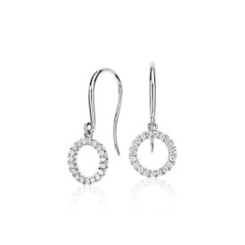 Diamond Circle Earrings in 14k White Gold (1/5 ct. tw.)