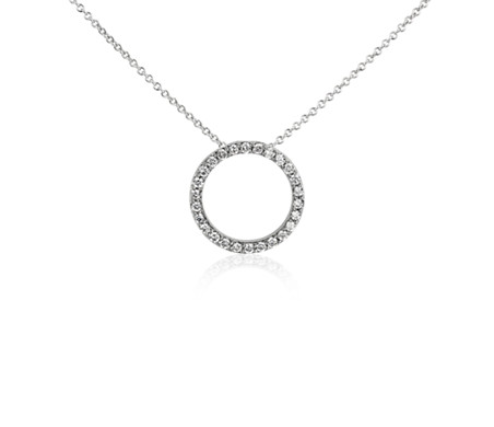Open circle diamond pendant in 14k white gold 14 ct blue nile open circle diamond pendant in 14k white gold 14 ct mozeypictures Choice Image