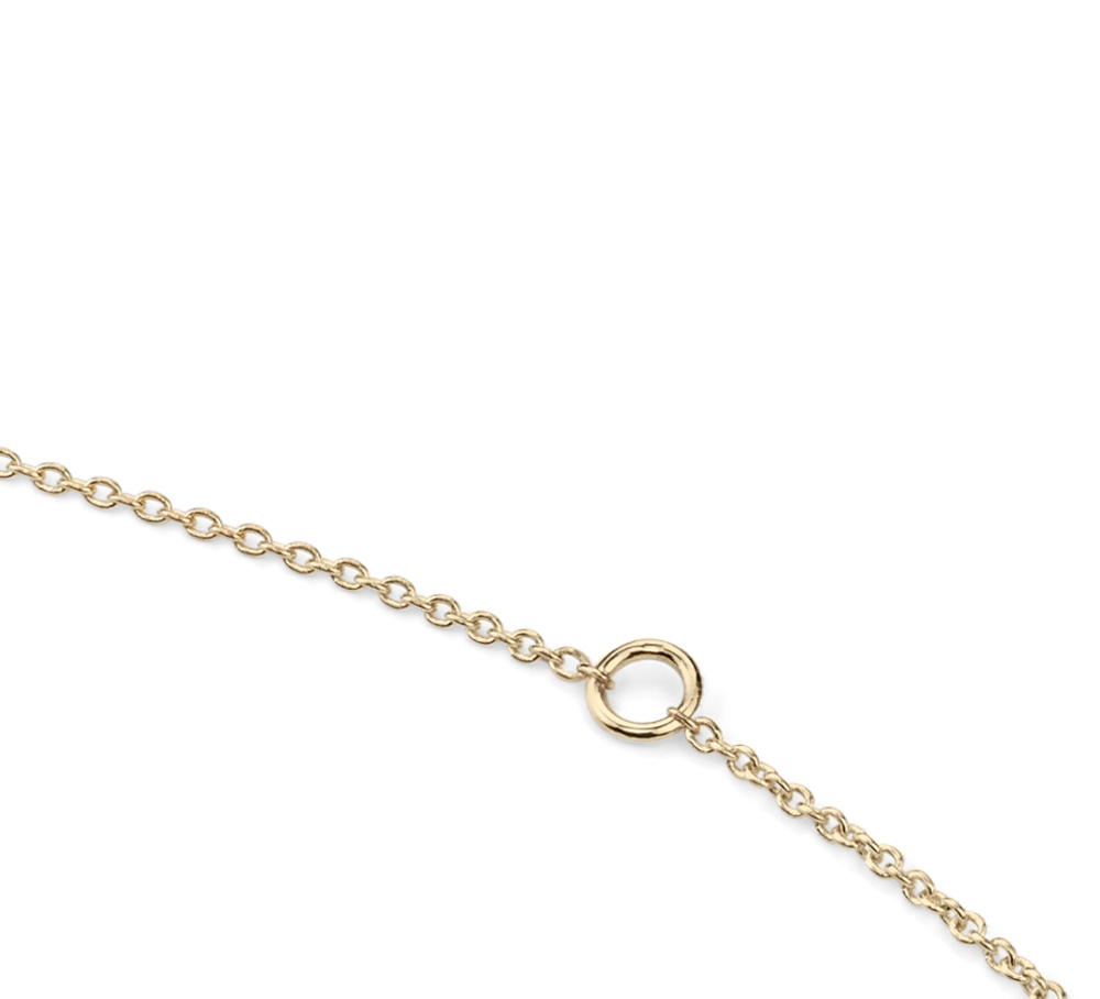 Collar hexagonal con diamantes en oro amarillo de 14 k