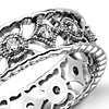 Open Filigree Diamond Eternity Ring in Platinum (1/3 ct. tw.)