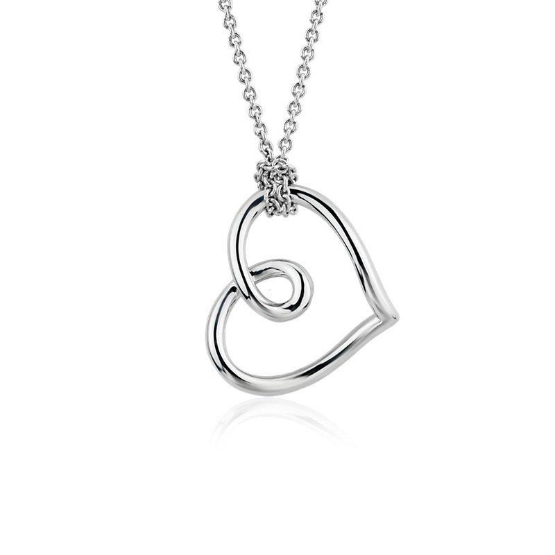 Open Heart Pendant in Sterling Silver