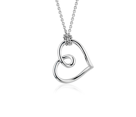 Open Heart Pendant in Sterling Silver