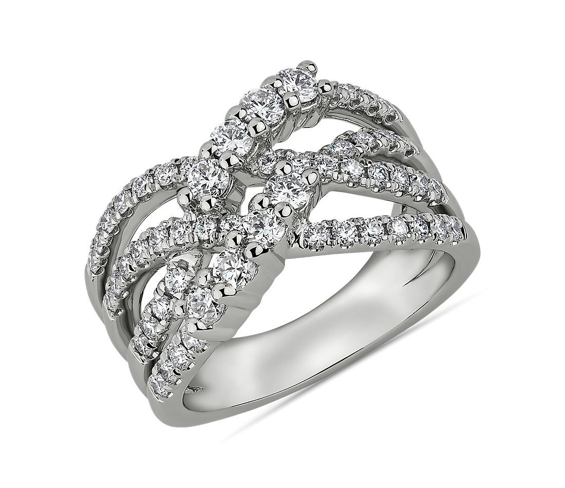 Open Laced Diamond Fashion Ring in 14kt White Gold (1 ct. tw.)
