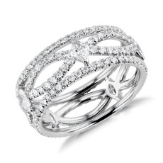Blue Nile Studio Open Marquise Diamond Eternity Ring in Platinum (1.7 ct. tw.)