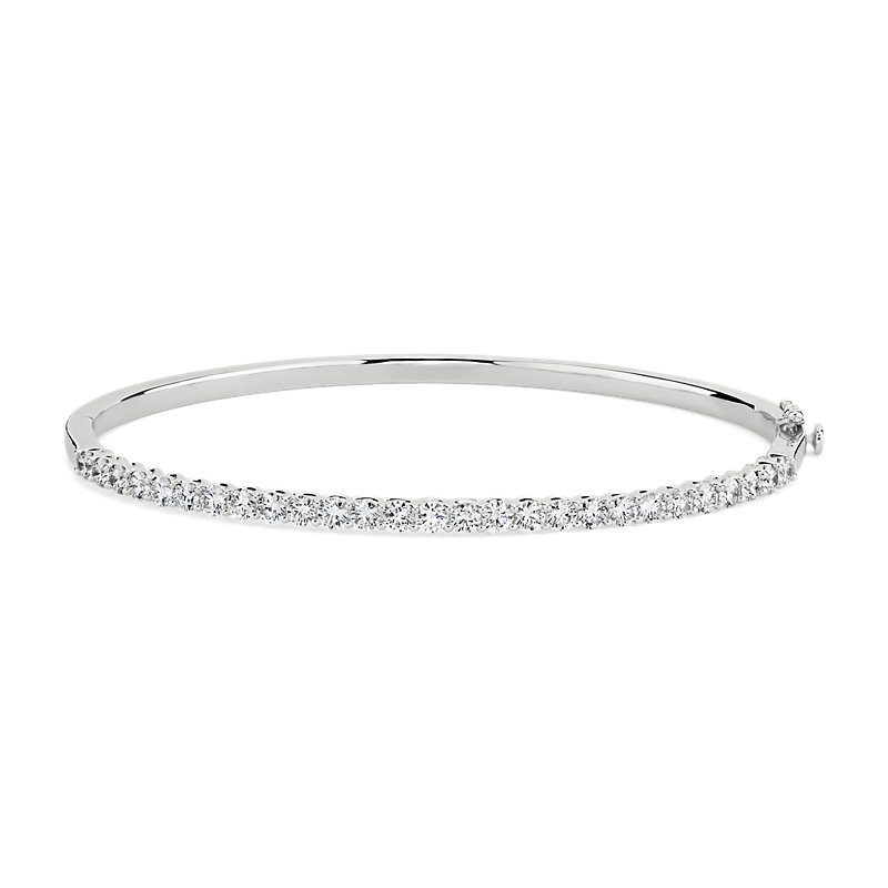Open Trellis Diamond Bangle in 14k WG (2 1/6 ct. tw.)