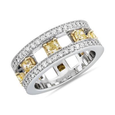 bague diamant or blanc et jaune