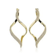 NEW Open Twist Drop Earrings in 14k Yellow Gold (0.35 ct. tw.)