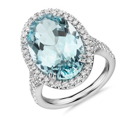 asscher aqua halo diamond cut anniversary rings stone products ring engagement aquamarine
