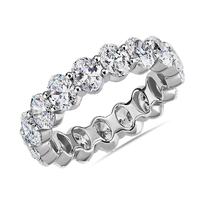 NEW Oval Cut Diamond Eternity Ring in Platinum (3.0 ct. tw.)